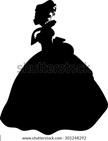 victorian   woman   silhouette
