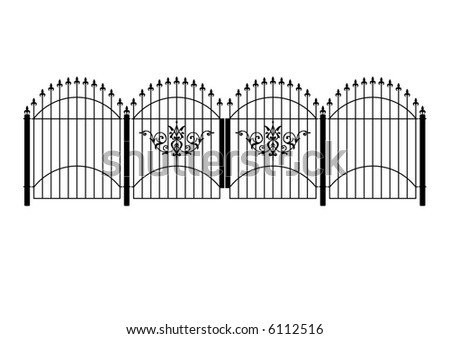 Custom Design Wrought Iron Gates, Custom Design Wrought Iron Fence