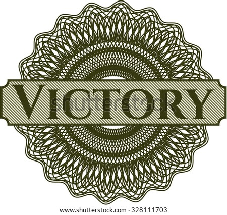 Victory abstract linear rosette