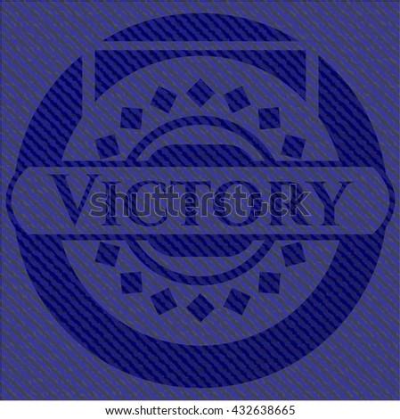 Victory denim background