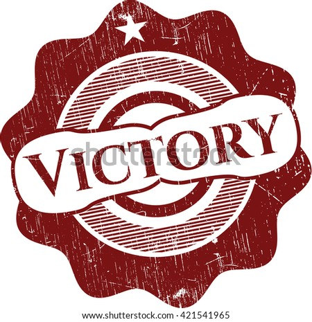 Victory grunge style stamp