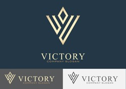Victory Logo Template Design Vector