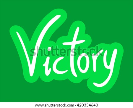 victory message