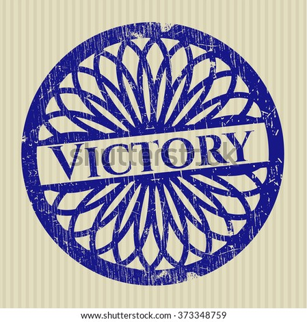 Victory rubber seal with grunge texture