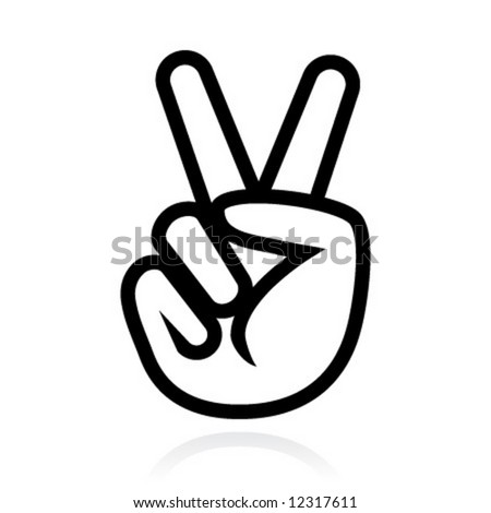 Victory Sign   H...V For Victory Sign