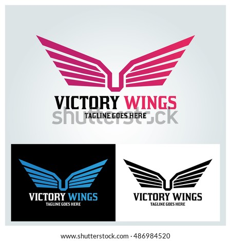 victory wings logo design