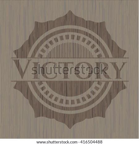 Victory wooden emblem