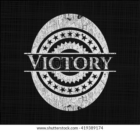 Victory written with chalkboard texture