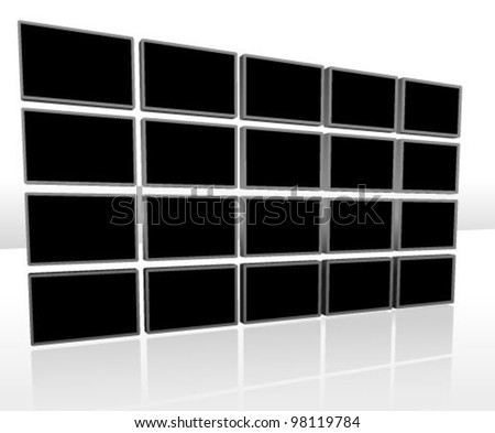 Video Background Vector Illustration (Black background design template)