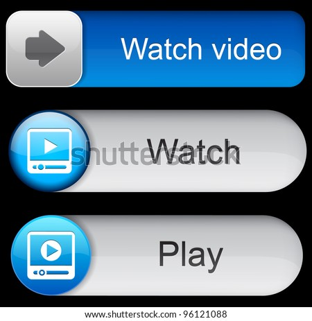 video blue web buttons for