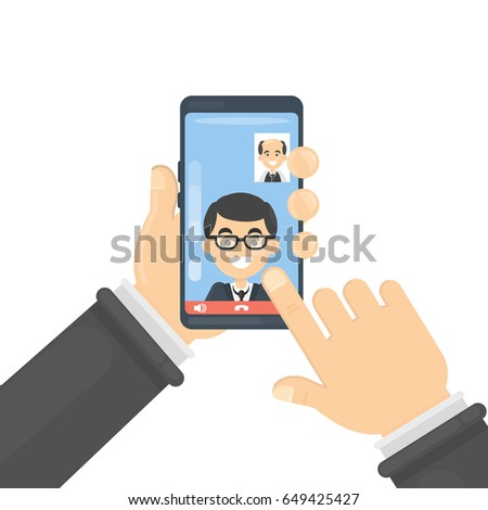 Video call on smartphone.