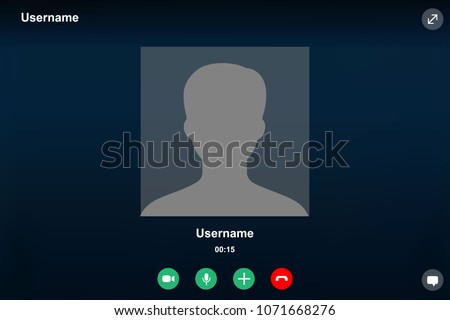 video call screen template. Vector illustration