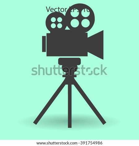 Old Fashioned Live Camcorder Icon