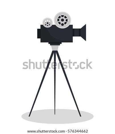 Shutterstock video camara movie icon