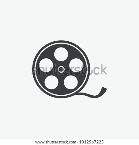 Video Camera Film Tape Reel Vector Icon