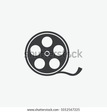 Video Camera Film Tape Reel Vector Icon