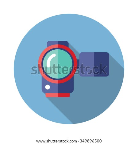 video camera flat icon with