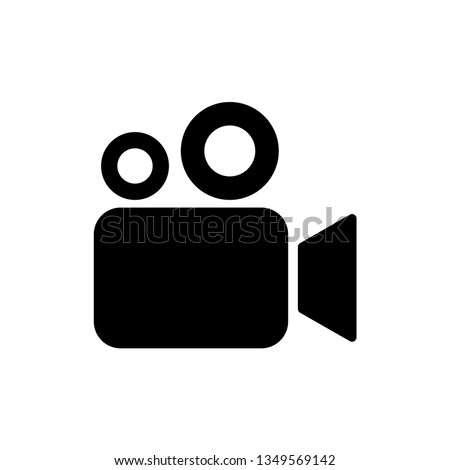 Video camera icon. Cinema camera icon. Film camera, Movie camera icon. Vector icon EPS 10 Сток-фото ©