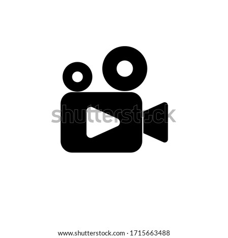Video camera icon vector. Video Camera. Camera Icons. Movie Sign. Cinem