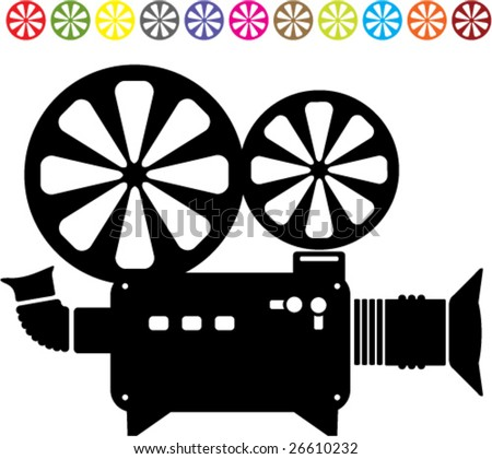 video camera clipart. stock vector : Video camera