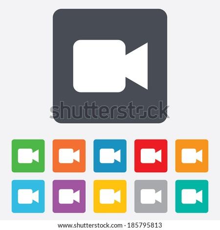 video camera sign icon video