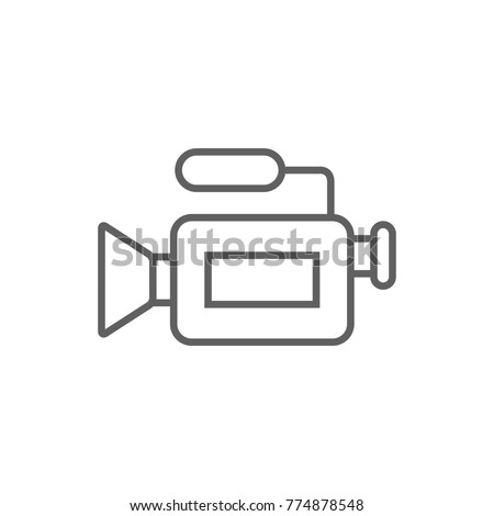 Video camera thin line icon vector Сток-фото ©