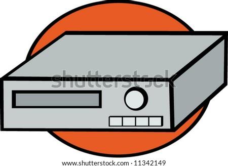 video cassette recorder - stock vector