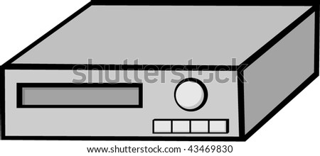 Video Recorder Vector Video Cassette Recorder Vcr or