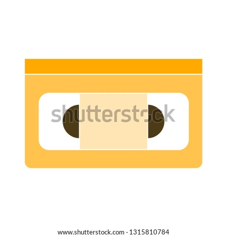 video cassette. vector video cassette. flat Vector icon - illustration of video tape isolated on white