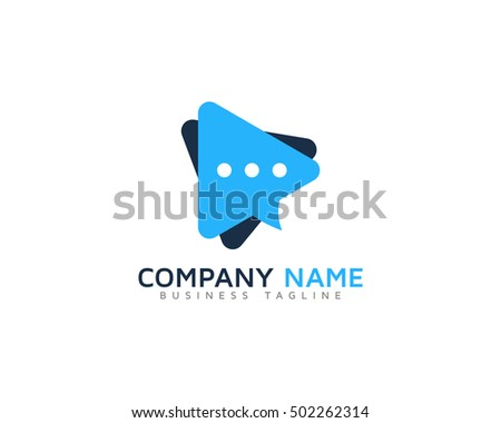 video chat logo design template