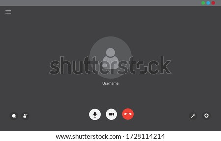Video chat user interface, video calls window overlay Stock foto ©