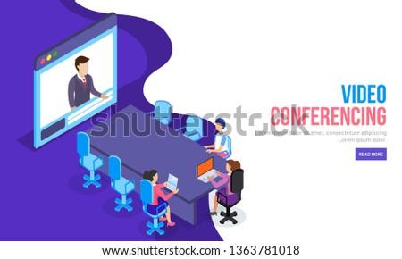 video conferencing concept