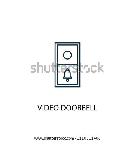 video doorbell concept line icon. Simple element illustration. video doorbell concept outline symbol design from Smart home set. Can be used for web and mobile UI/UX
