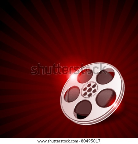 Video film tape cinema vector background. Eps 10.