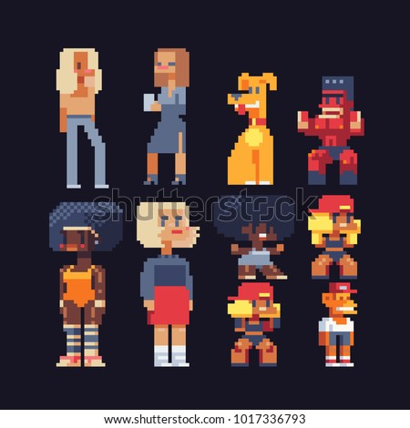 video game characters set