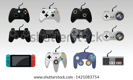 Video game console. gamepad vector illustration. - Vector