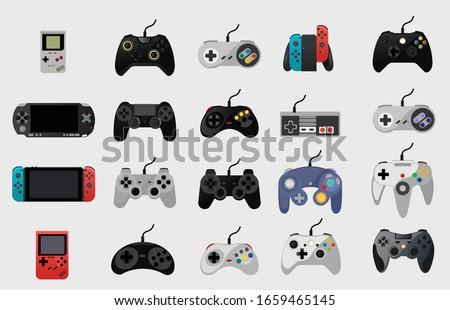 video game console gamepad