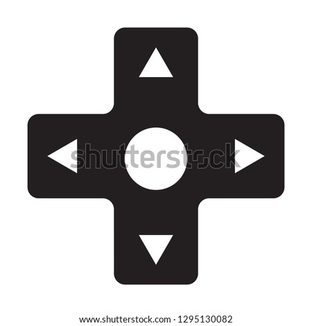 Video Game Controller D-Pad Direction Directional Pad E-Sports Vector Illustration Icon