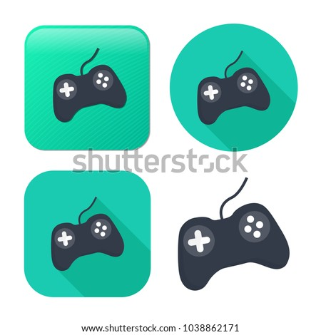 video game controller icon - joystick,  game play icon