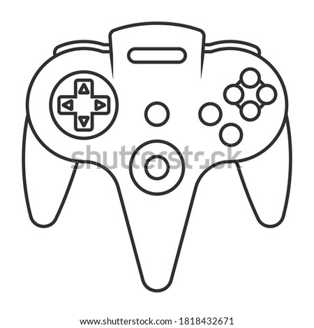 video game controller line art icon for apps or website