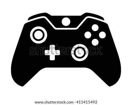 Stock Photo Video game controller or gamepad flat icon for apps and websites
