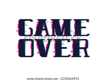 video game over screen glitch