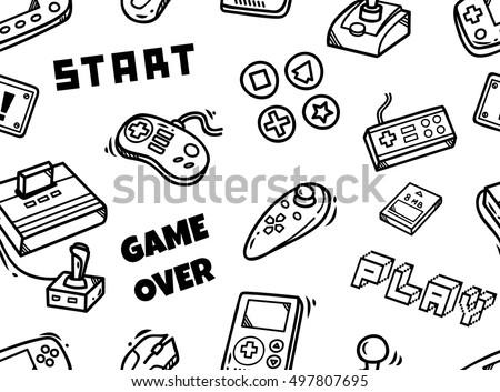 Pac Man Video Game Brushes