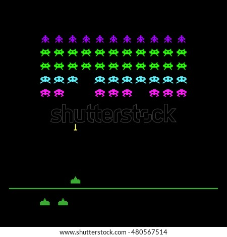 video game with space  invaders