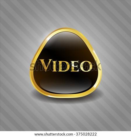 Video golden badge or emblem