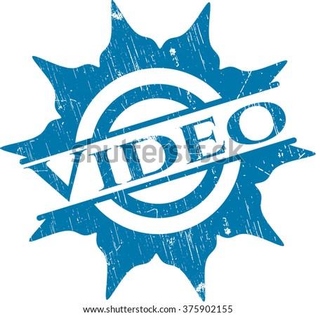 Video grunge style stamp