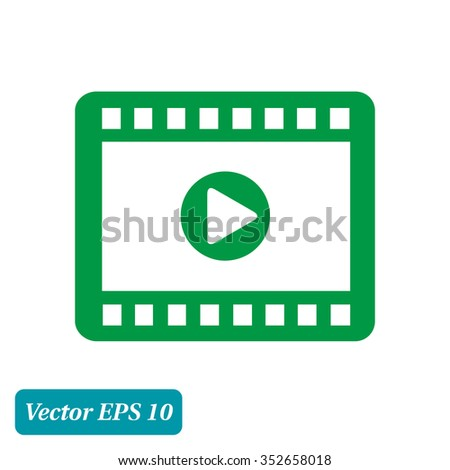 video icon flat design style