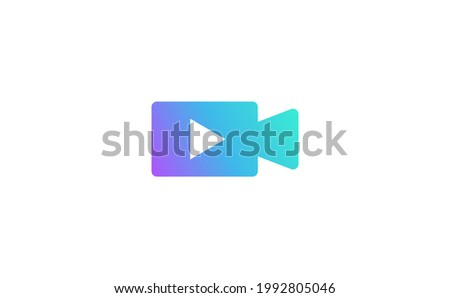 video icon, movie icon, video sign and symbol vector design. Vector illustration for graphic design, Web, UI,