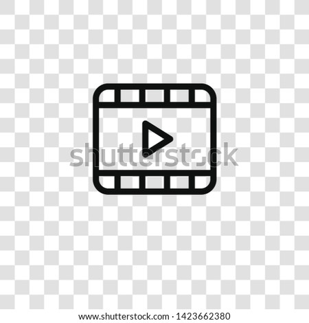 video icon on transparent background