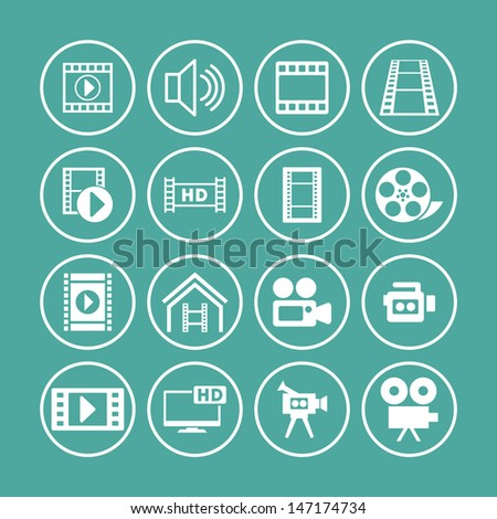 video icon set